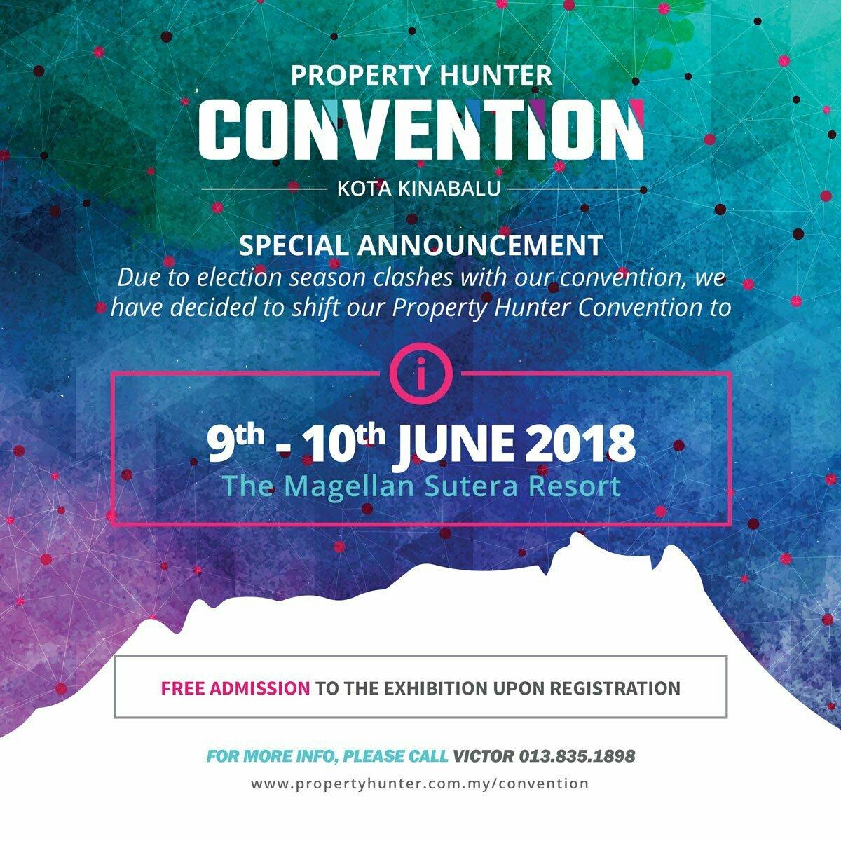 Property Hunter, Sabah, Kota Kinabalu, Convention,